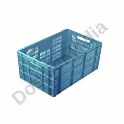Blue Rectangular Mango Plastic Crates