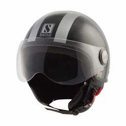 Open Face Stripe Helmet