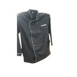 Black Cotton Chef Coat, For Restaurant