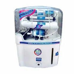 Ro+uv+uf,Sediment White Aqua Natural Domestic RO Purifier, Capacity: 12 L