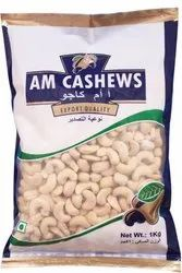 AM CASHEWS PLAIN DRIED CASHEW NUT, Grade: W180, Packed