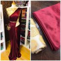 Satin Saree With Banarasi Silk Blouse