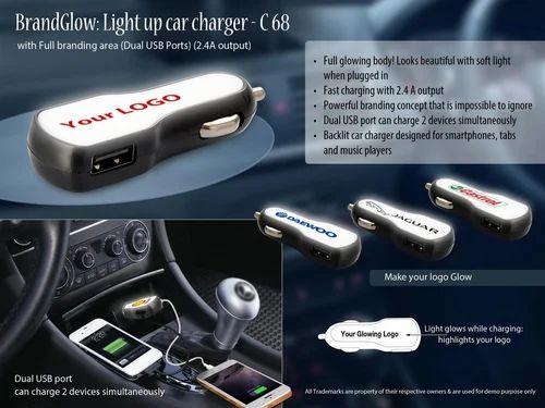Light Up Car Charger Dual Usb Ports 2 4a Output Brandglow