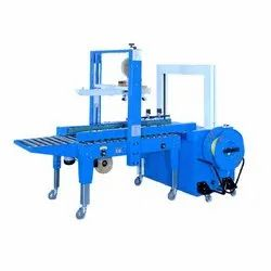 Auto Carton Sealing And Strapping Combo Unit