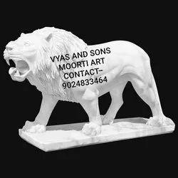 Marble Lion Sculptures