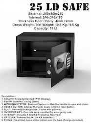 Swaggers 25 LD Safe Locker (With Display)