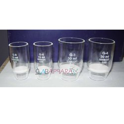 Labappara Sinted Glass Crucible for Laboratory