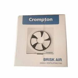 White Crompton Brisk Air Exhaust Fans, For Industrial