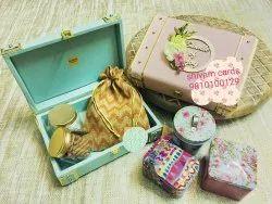 Box Wedding Cards in velvet