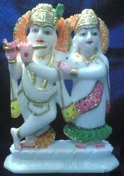 Marble Radha Krishna Ji Statue