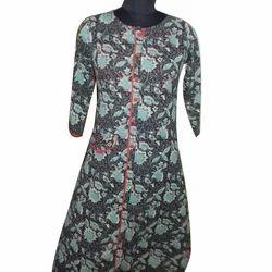 Womens Cotton Printed Achkan Kurti