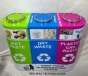 SS Trio Dustbin With Inner Bin