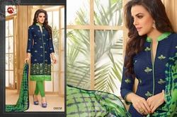 Embroidered Collar Neck Sachika Salwar Suit Fabric