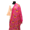 Pink Embroidered Dupatta