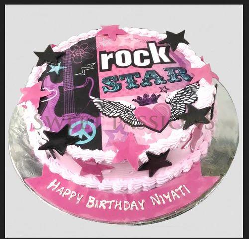 Miraculous Photo Cakes Rock Star Round Photo Cake Manufacturer From Mumbai Funny Birthday Cards Online Kookostrdamsfinfo