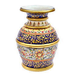 Marble Pot With Flower Print