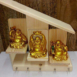Golden Laughing Buddha Statue Set