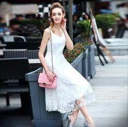 A-Line Skater Sleeveless Knee Length Skirt Dress