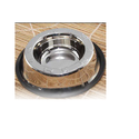 Stainless Steel Non Tip Pet Bowls With Anti-skid Ring ( Top Embossed )