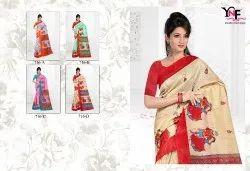 Green Silk 2 Silk Cotton Printed Saree