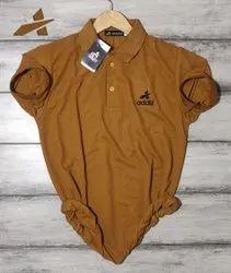 Addiz Half Sleeve Plain Metty Cotton Polo T-Shirt