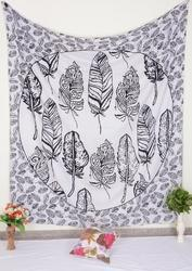 Pigeon Feathers Print Wall Tapestry