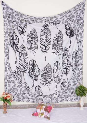 Cotton Square Pigeon Feathers Print Wall Tapestry