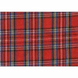 Pure Cotton Check Shirting Fabric, Check/stripes, Red