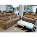 Wooden ( Frame) Recliner Brown 5 Seater Designer Sofa Set, For Home, Living Room