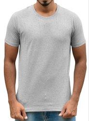 Mens Round Neck Grey Colour T Shirt