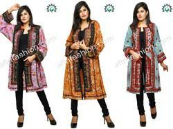 Full Sleeve Embroidered Hand Embroidery Long Balochi Jackets