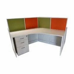 Wooden Office Work Table With Locker