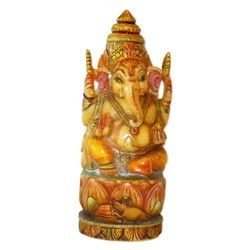 Marble Ganesha Resting Statue