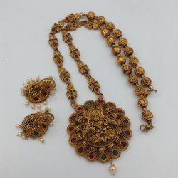 Karishma Kreations Matte Finish Temple Jewellery Set - D5007