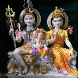 Marble God Shiv Parvati Statue