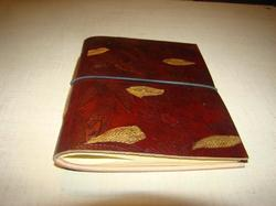 Leaf Embossed Handmade Leather Journal