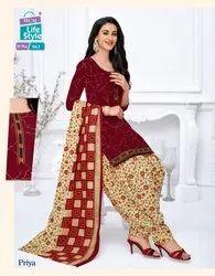 Cotton Unstitched MCM Priya Vol Stitched Patiyala Suits