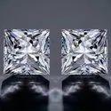 DEF VVS  Princess Moissanite Diamond