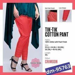 Tik tok Cotton Ladies Leggings, Size: Free Size