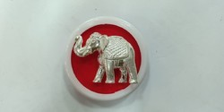 Silver Elephant (Chandi Hathi), Size: 0.5 inches