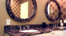 Amethyst Vanity Counter and Mirrors