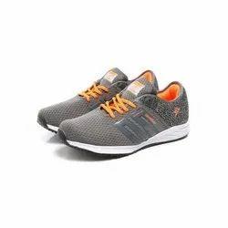 Mens Dark Grey Orange Walking Shoes