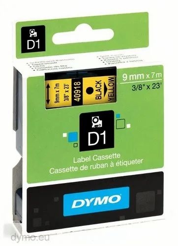 Dymo Tape, D1 Tapes - 9 MM X 7 Mtrs for LM-160, LM-280, LM-420 & MOBILE LABELER, SKU 40918, S0720730