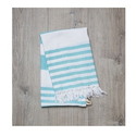Ocean Blue Cotton Turkish Towel