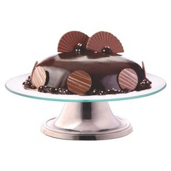 Borosil Celebration Platter Cake Stand 12inch, Glass