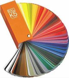 Ral K5 Shade Card