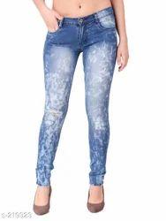 Blue Color Ladies Jeans