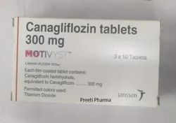 Canagliflozin Motivyst 300 mg Tablet, Diabetes, Janssen