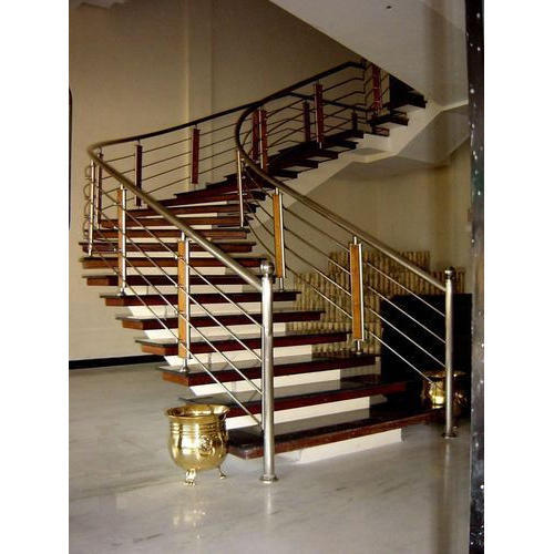 Steel magic stainless steel interior stairs railings rs 600 running feet id 16028249012 for Stainless steel railings interior