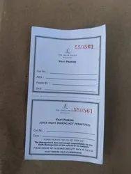 Valet Parking Card